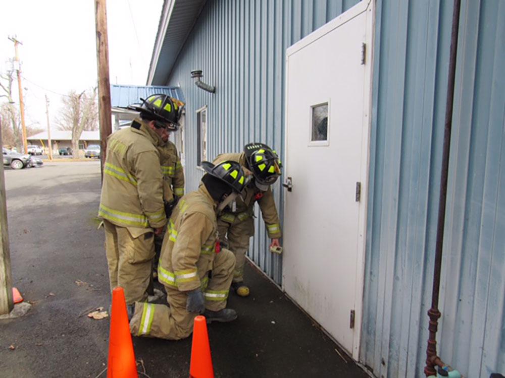 Testing for a gas leak