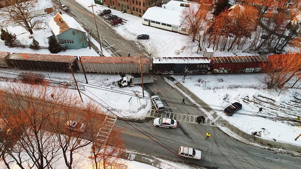 Truck vs Train Chatham NY